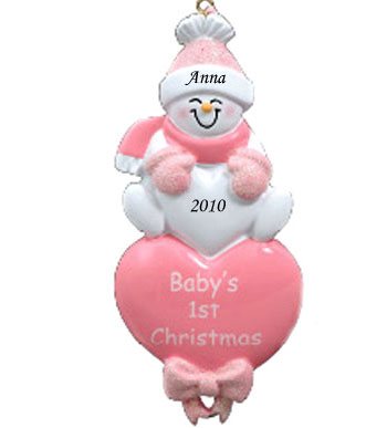 PERSONALIZED BABY CHRISTMAS ORNAMENT Santa Claus And