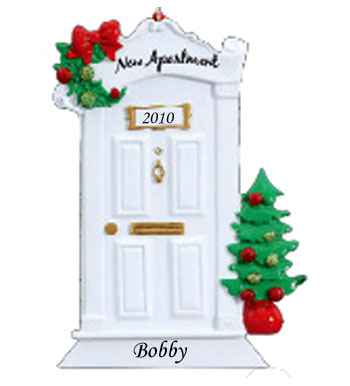 New apartment personalized christmas ornament for First apartment ornament